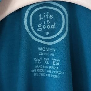 Life Is Good Tops - Women's Life is Good XL Tee